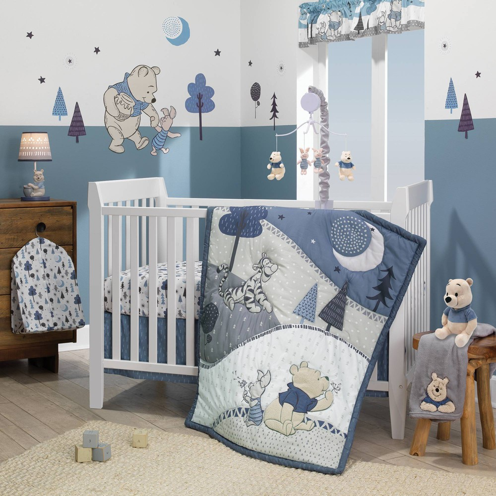 Image of Lambs & Ivy Disney Baby Nursery Crib Bedding Set - Forever Pooh 3pc