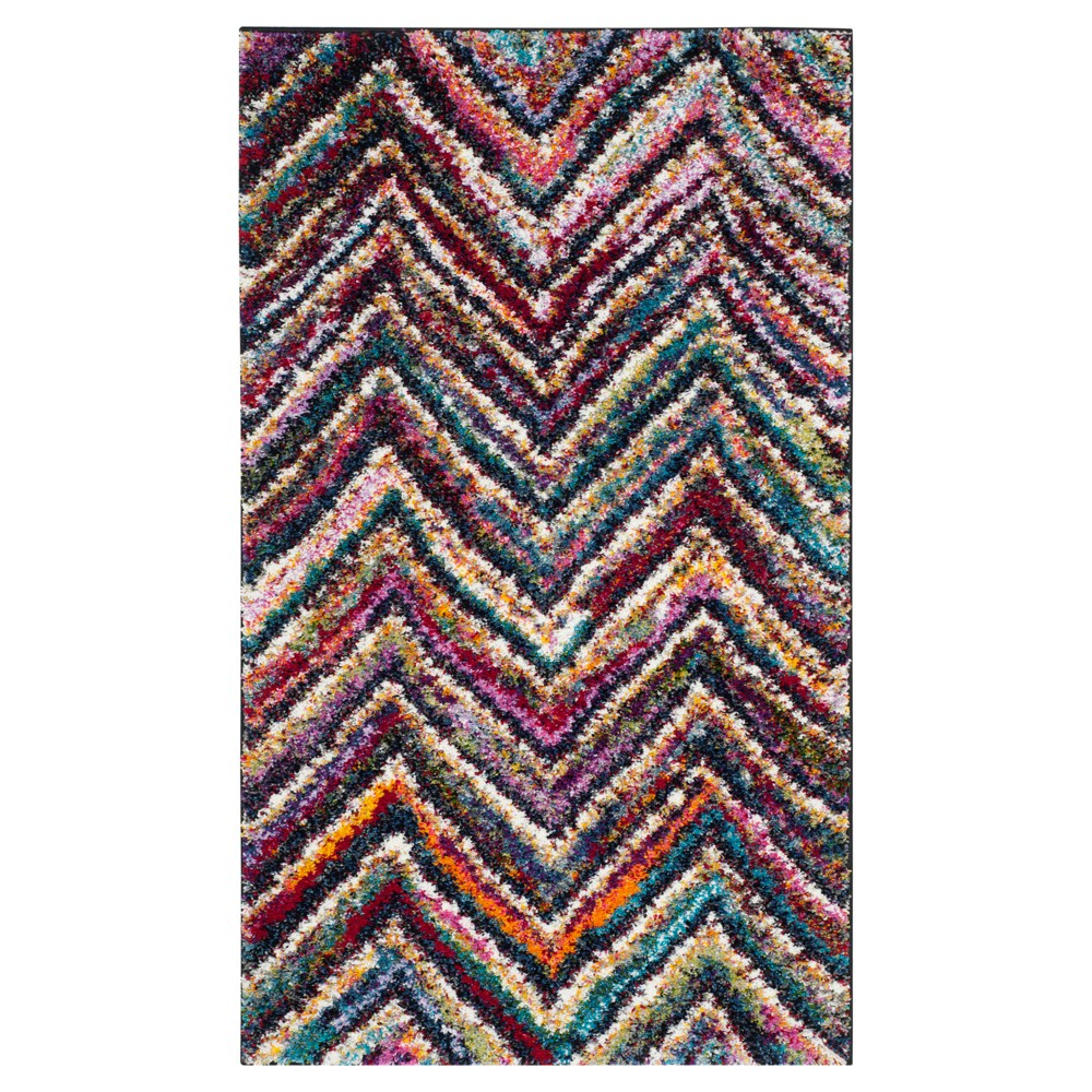 Stripes Loomed Accent Rug - (3'x5') - Safavieh, Multi-Colored
