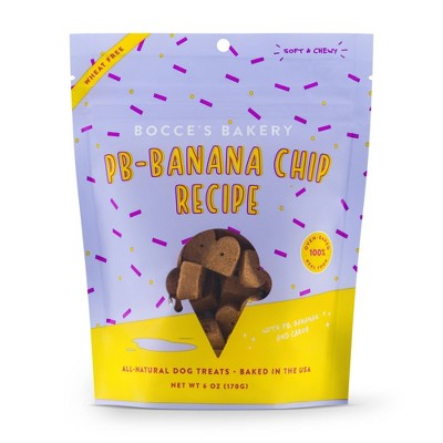 Bocce's Bakery Peanut Butter Banana Chip Soft and Chewy Dog Treats - 6oz