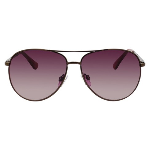 Women's Aviator Sunglasses with Gradient Lens - Brown - image 1 of 2