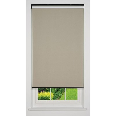 Linen Avenue Cordless Blackout Roller Shade, Beige and Taupe