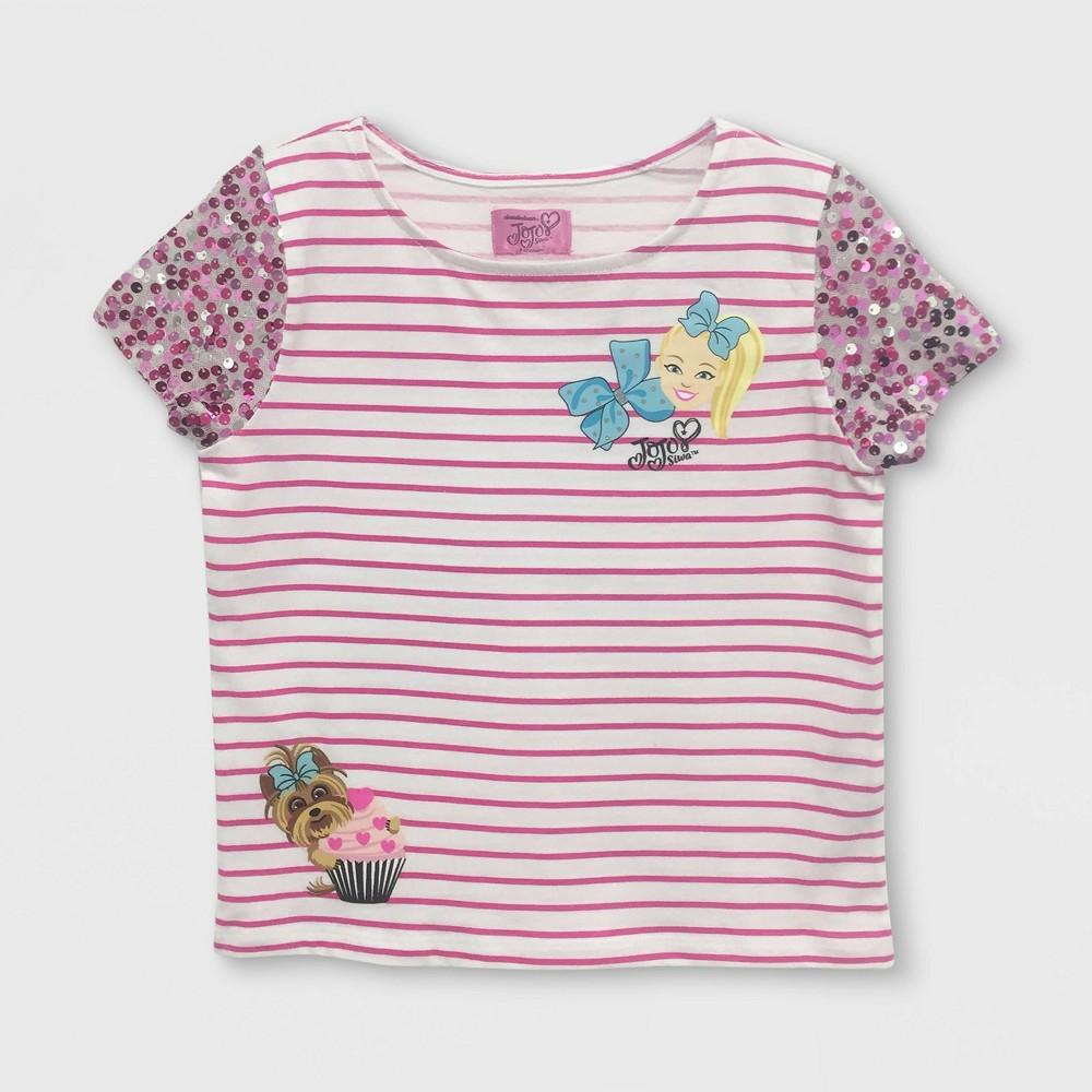 23b5324e291 Girls JoJo Siwa Flip Sequin Short Sleeve T Shirt WhitePink XL
