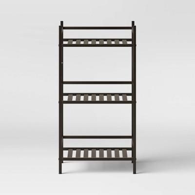 Square Tube 3 Tier Decorative Storage Cabinets Bronze - Threshold™