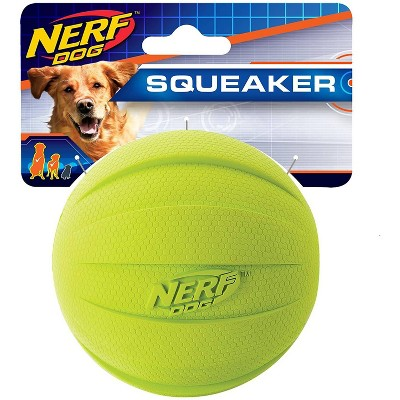 """NERF Classic Squeak Ball Dog Toy - Green - 3.8"""""""