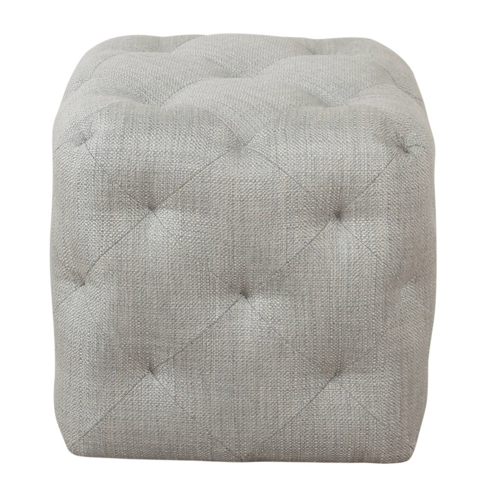 Small Pin Tufted Ottoman Textured Gray - HomePop was $99.99 now $74.99 (25.0% off)