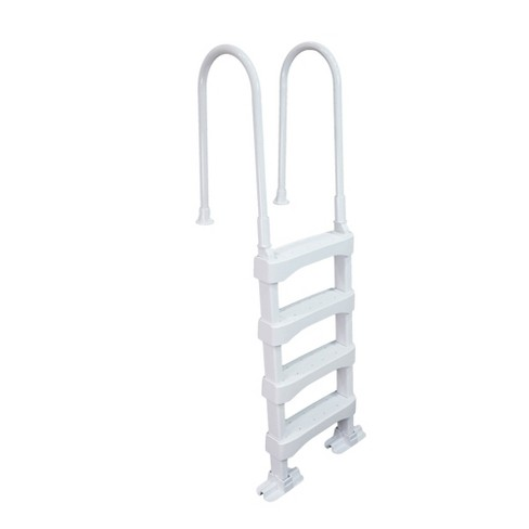 Vinyl Works SLD2 Resin 60 Inch Above Ground Swimming Pool Step Ladder, White - image 1 of 4