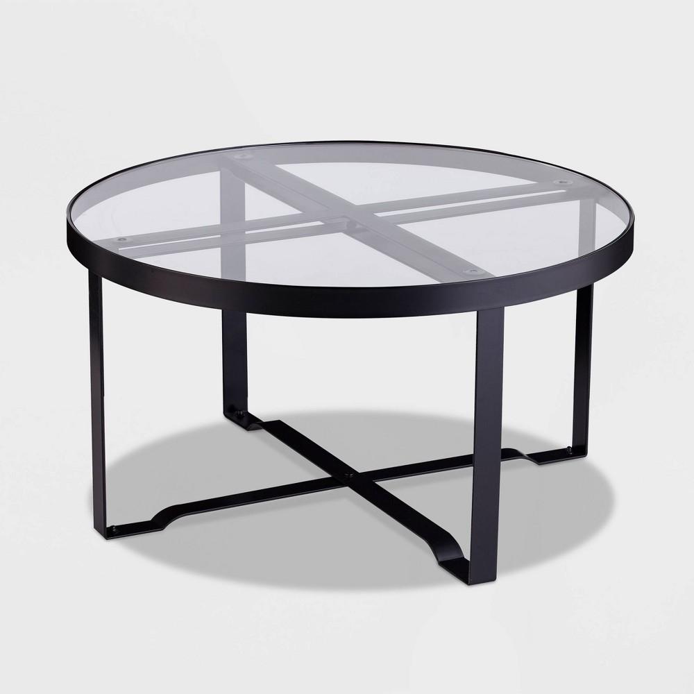 Outdoor Patio Coffee Table - Black - Sei