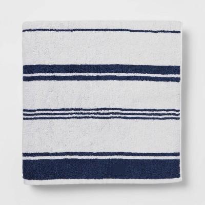 Performance Bath Sheet Navy Stripe - Threshold™