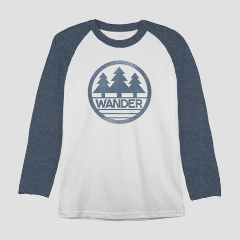 Men s Long Sleeve Wander Graphic T-Shirt - Awake White   Target de22fceebcf