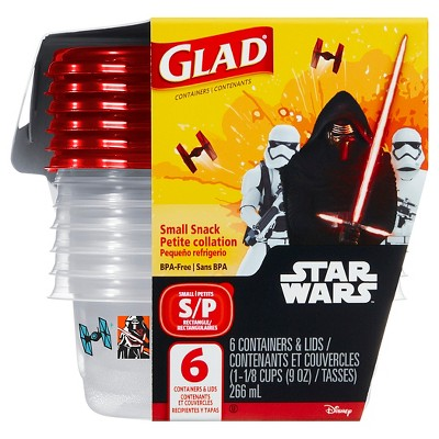 Glad® Star Wars Rectangle Container - 9oz 6ct