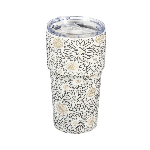 Evergreen Flag Double Wall Ceramic Companion Cup With Tritan Lid 13 Oz Daisy Bellis Target