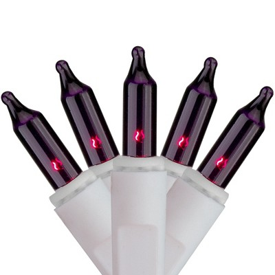 Brite Star Set of 100 Purple Mini Icicle Christmas Lights - 7.8ft White Wire