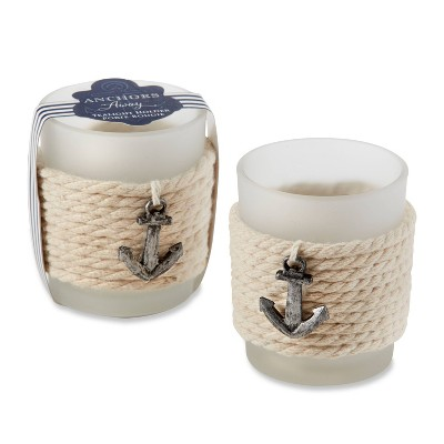 12ct Anchors Away Rope Tealight Holder