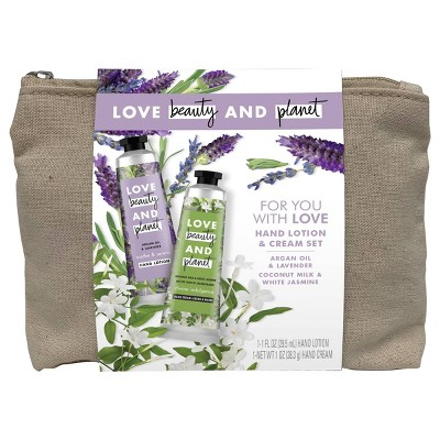 Love Beauty and Planet Hand Cream Gift Set - White Jasmine and Lavender - 2ct/1oz each