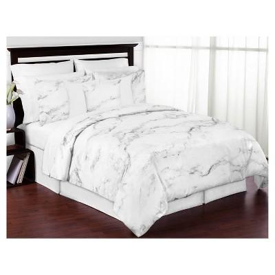 Black & White Marble Comforter Set (Full/Queen)- Sweet Jojo Designs®