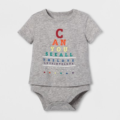 Pride Can You See All the Love Child Bodysuit - Heather Grey Newborn