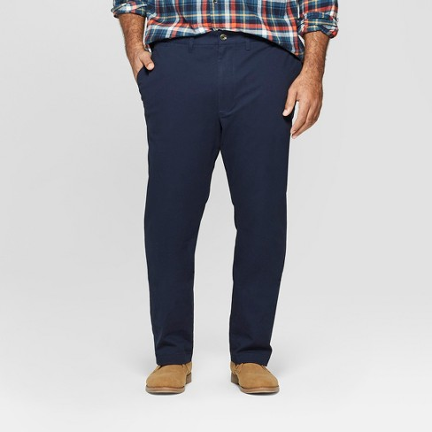 Men's Tall Chino Pants - Goodfellow & Co™ Navy - image 1 of 3