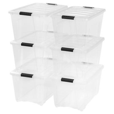 IRIS 54 Qt Plastic Storage Bin - 6 Pack