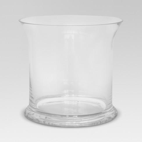 Glass Hurricane Vase Clear Threshold Target