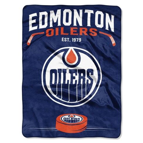 NHL Edmonton Oilers Inspired Raschel Throw - image 1 of 3