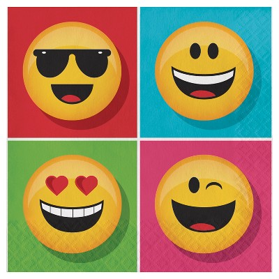 Show Your Emojions Napkins, 16 pk