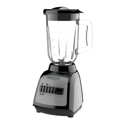 BLACK+DECKER Power Blender with Grinder Attachment - Black