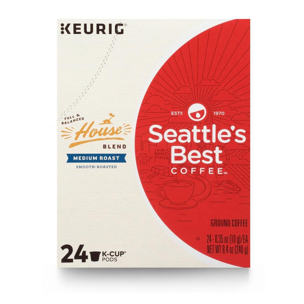 Seattle 39 S Best House Blend Medium Roast Coffee Keurig K Cup Pods 24ct