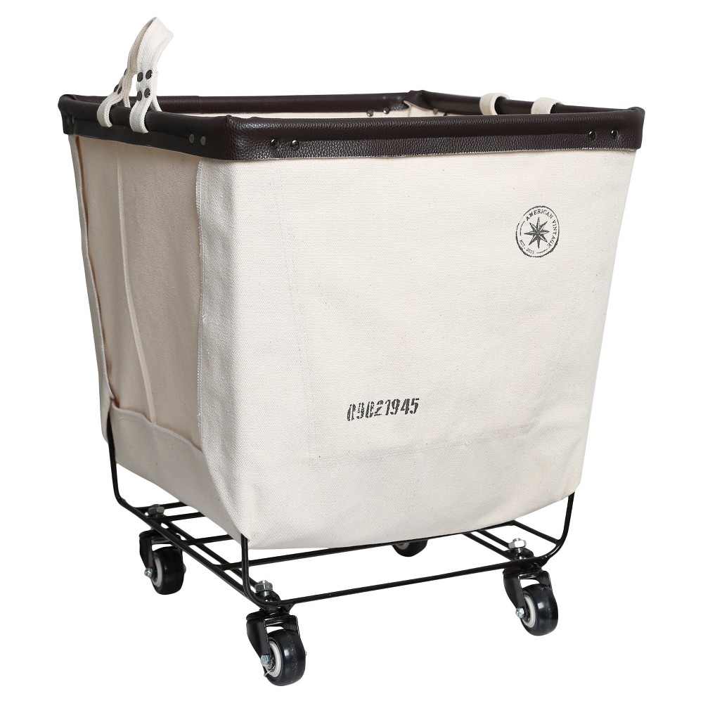 American Vintage Laundry Cart Canvas - Cream Canvas, Black