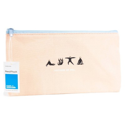 Namaste All Day Sloth Pencil Pouch Pink - Room Essentials™