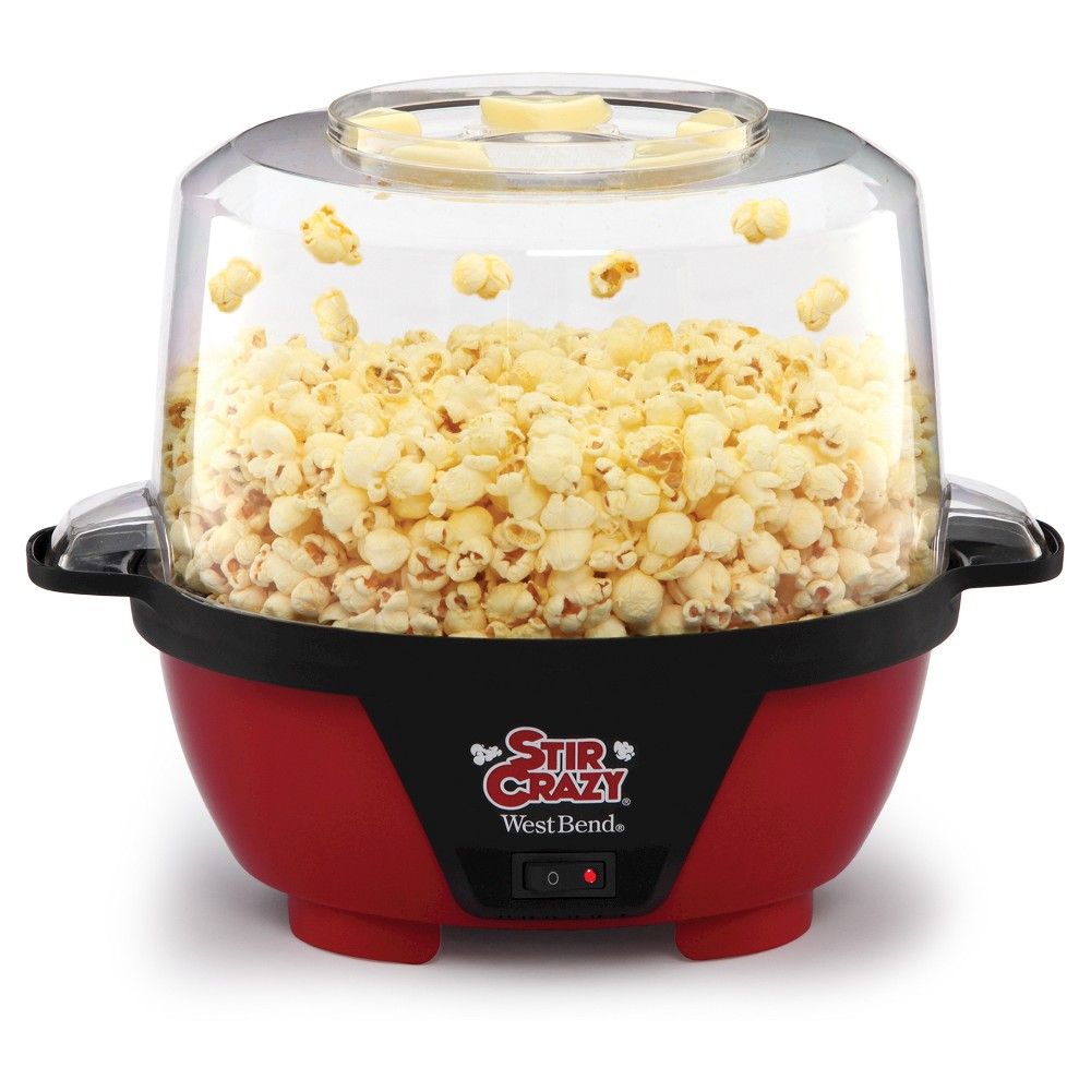 West Bend Stir Crazy Popcorn Maker Machine, Black 15110677