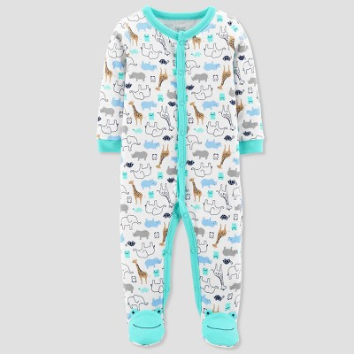 Baby Boys' Safari Animals Cotton Sleep N' Play - Just One You® made by carter's Green 9M