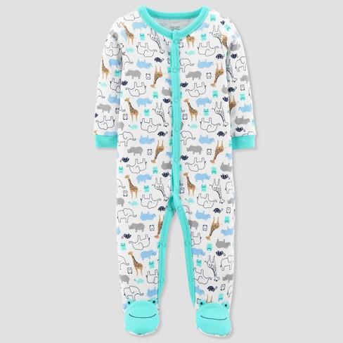 bfb7834cc Baby Boys  Safari Animals Sleep N  Play - Just One You® made by carter s  Green Newborn