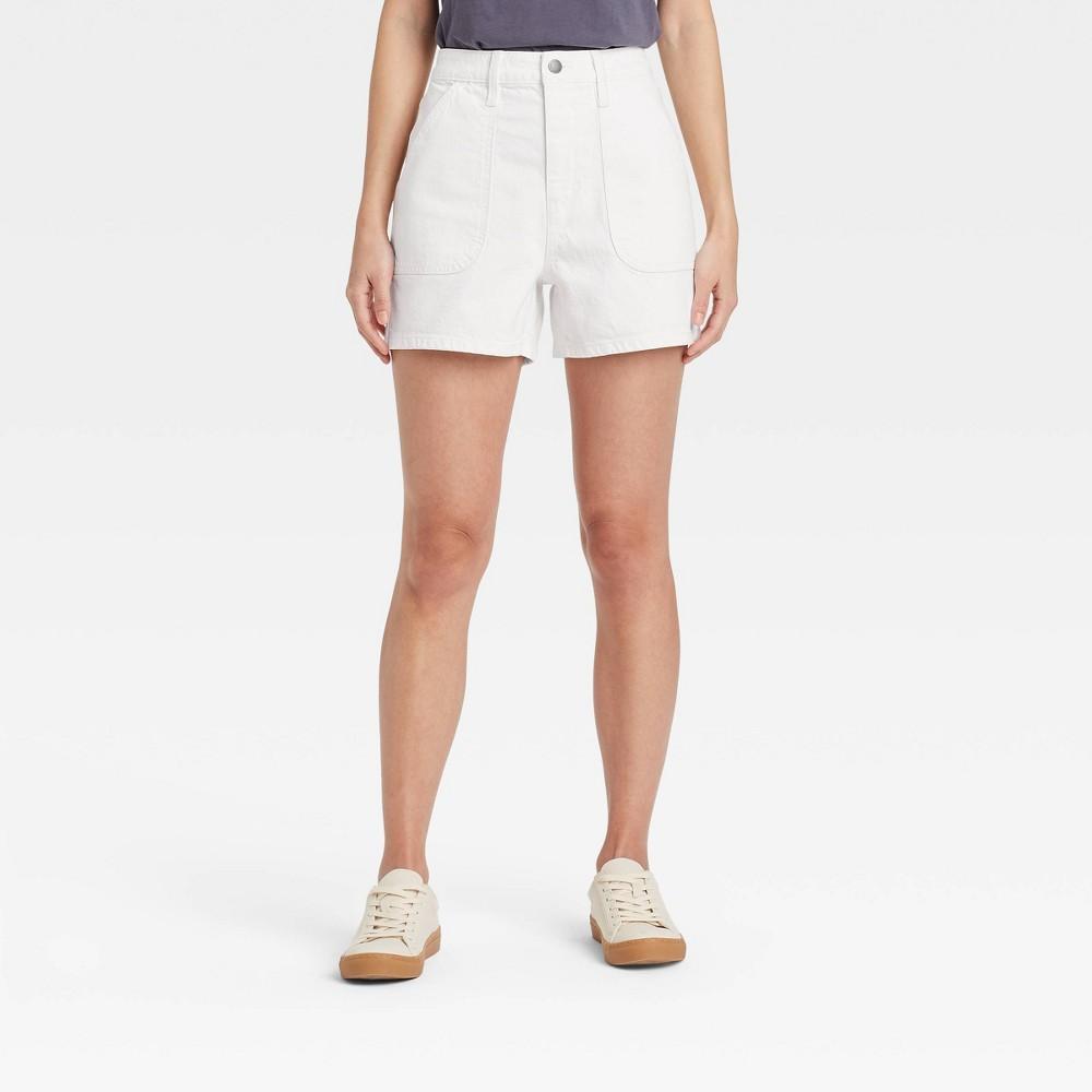 Women 39 S High Rise Carpenter Shorts Universal Thread 8482 White 0