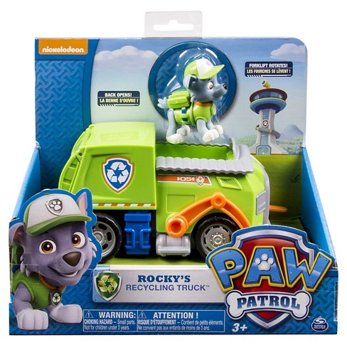 paw patrol rocky s recycling truck vehicle and figure target