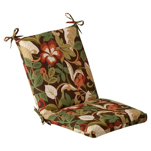 Outdoor Chair Cushion - Brown/Green Floral - image 1 of 4