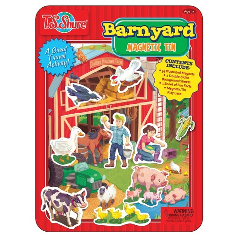 T.S. Shure - Barnyard Friends Magnetic Tin Playset - image 1 of 1
