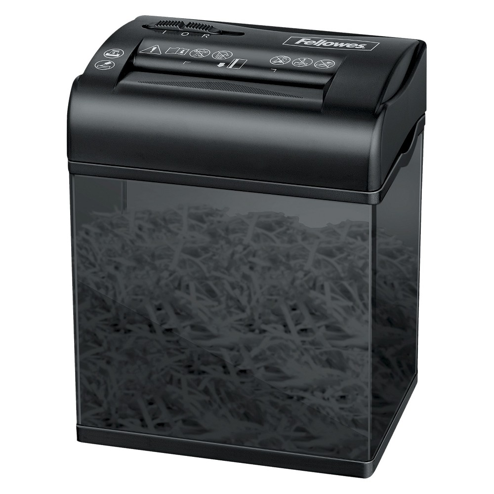 Fellowes Powershred ShredMate Cross-Cut Paper Shredder, 4 Sheets - Black Keep your office neat and secure with a Fellowes Powershred ShredMate Cross-Cut Paper Shredder. This small but powerful shredder can process anything from four sheets of paper at once to staples to even credit cards. This shredder will make an essential addition to your home office, and fits easily on top of desks or in drawers. Color: Black.