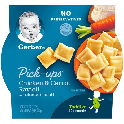 Gerber Toddler Pasta Pick-Ups Chicken & Carrot Ravioli Baby Meals - 6oz