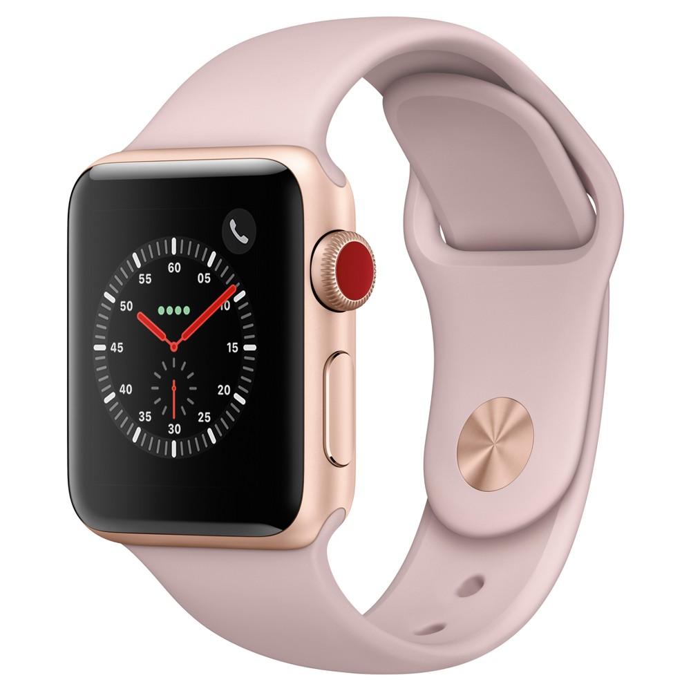 Apple Watch Series 3 42mm (GPS + Cellular) Aluminum Case Sport Band - Pink, Gray