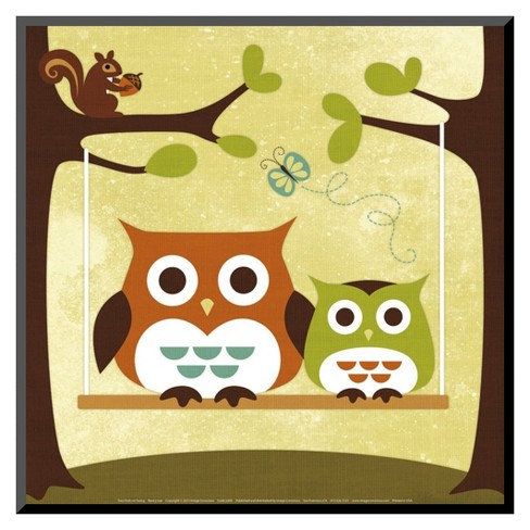 Art.com - Two Owls on Swing - image 1 of 1