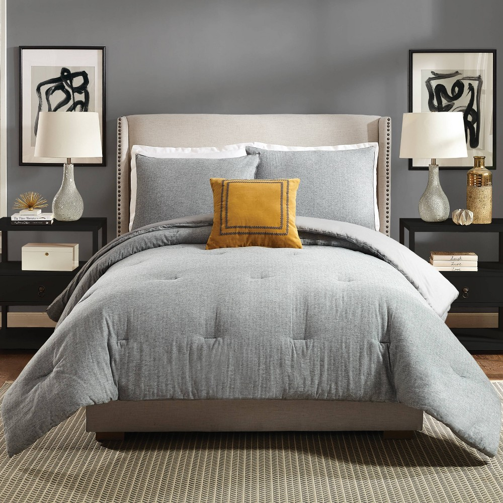 Image of Ayesha Curry Asher King 3pc Comforter Set Gray