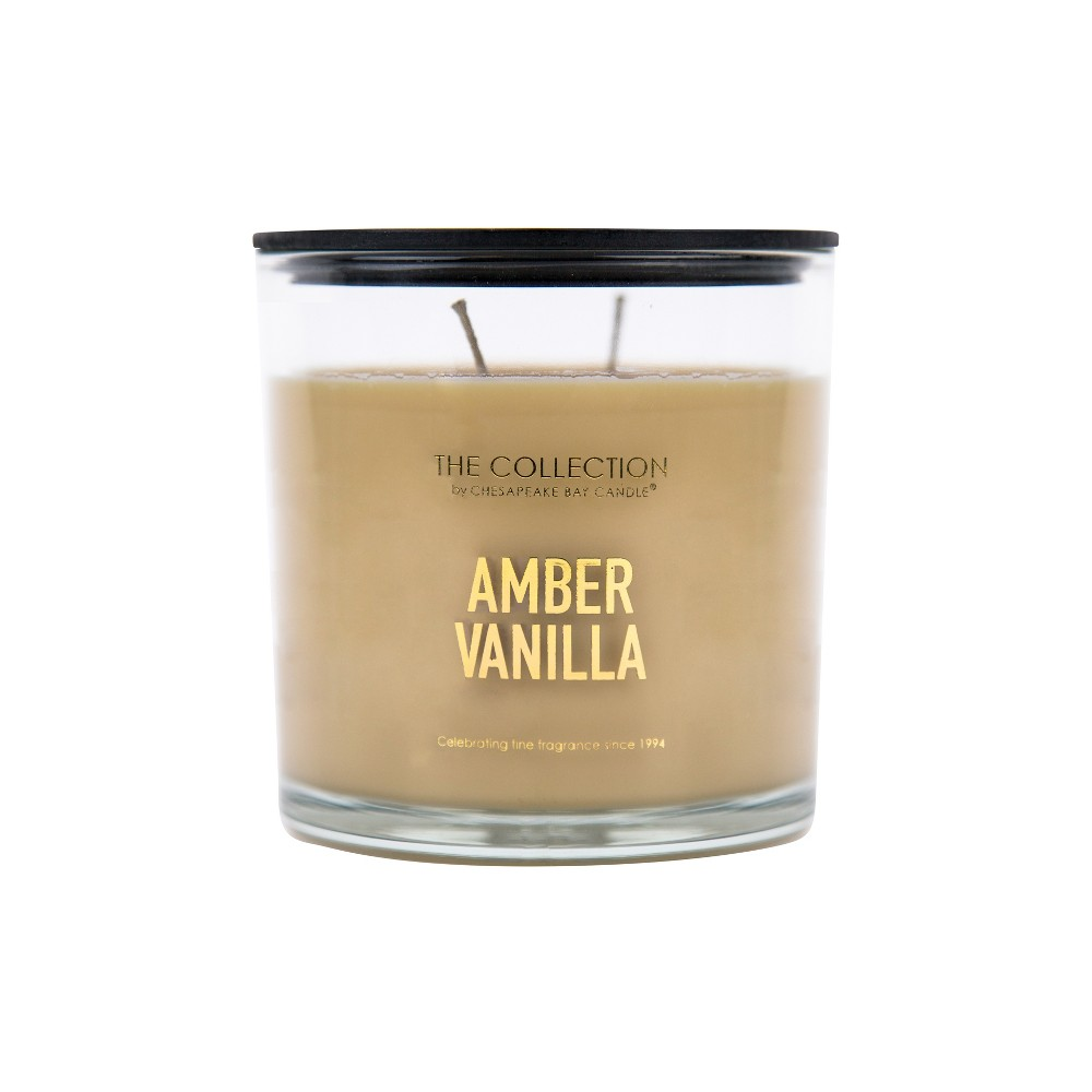 Image of 13oz Glass Jar 2-Wick Candle Amber Vanilla - The Collection By Chesapeake Bay Candle