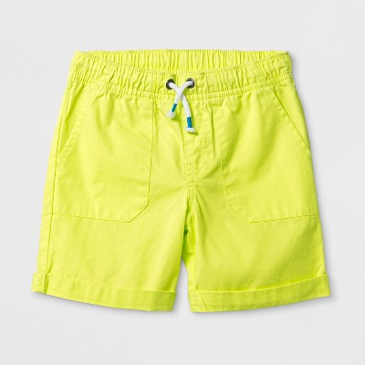 Toddler Boys' Pull-On Shorts - Cat & Jack™ Yellow - 3T