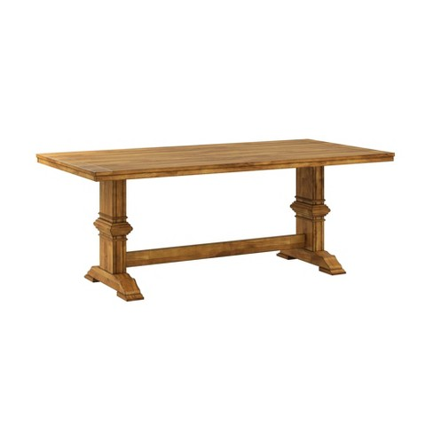 South Hill Farmhouse Trestle Base Dining Table - Inspire Q® - image 1 of 2