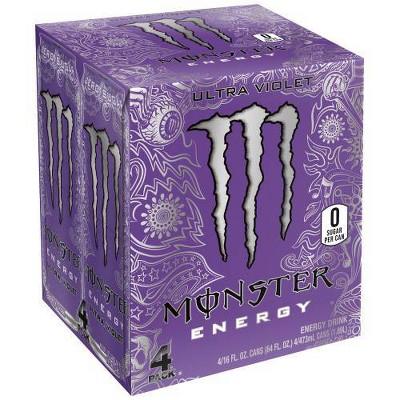 Monster Ultra Violet Energy Drinks - 4pk/16 fl oz Cans