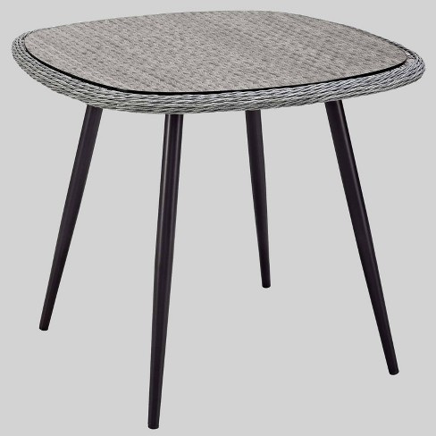"""Endeavor 36"""" Wicker Rattan Patio Dining Table Gray - Modway - image 1 of 3"""