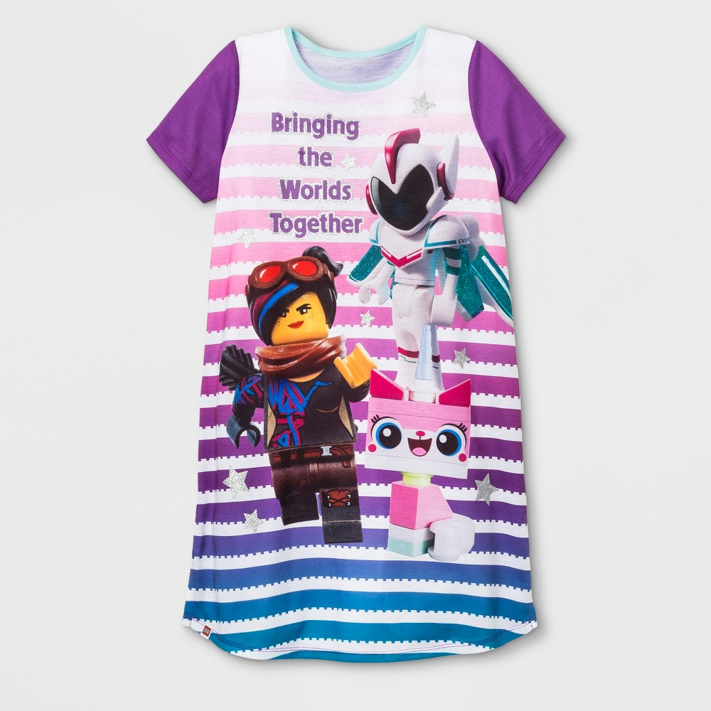 Girls' Lego Movie 2 Nightgown - Purple 7-8