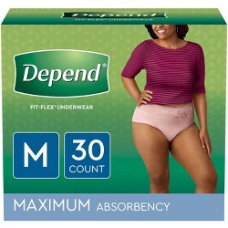 Depend Women's Fit-Flex Incontinence Underwear - Medium