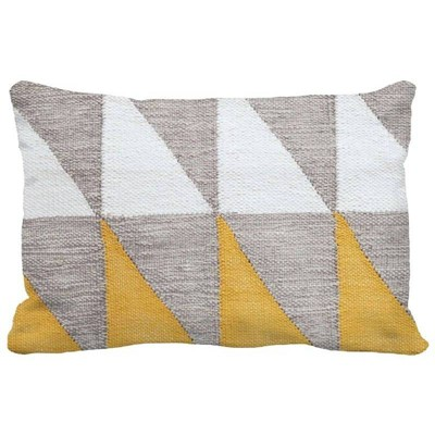Color Blocked Geometric Lumbar Throw Pillow Yellow - Project 62™