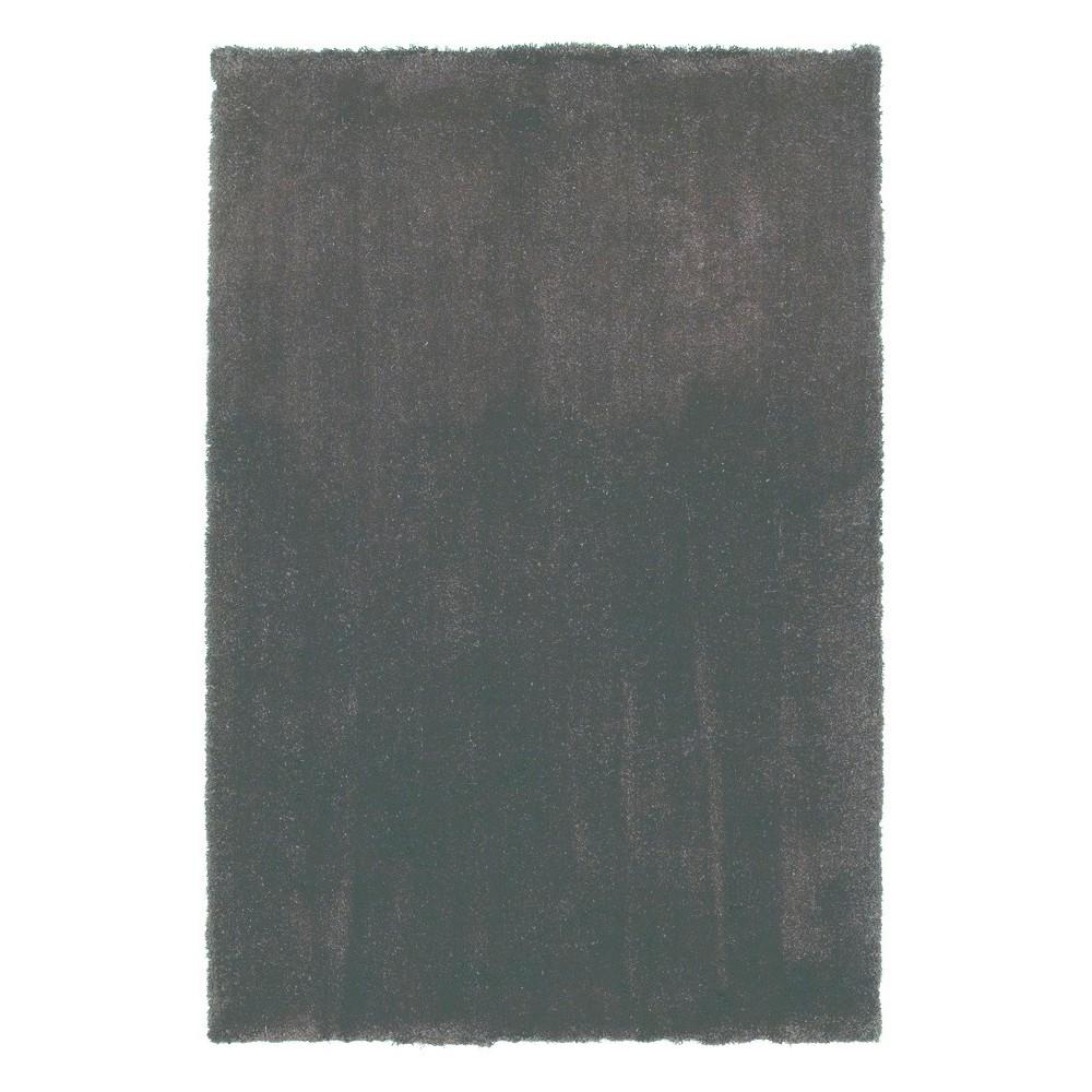 Espresso Solid Woven Area Rug 3'3